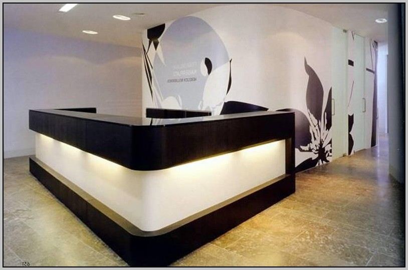 Black Reception Desks For Salons