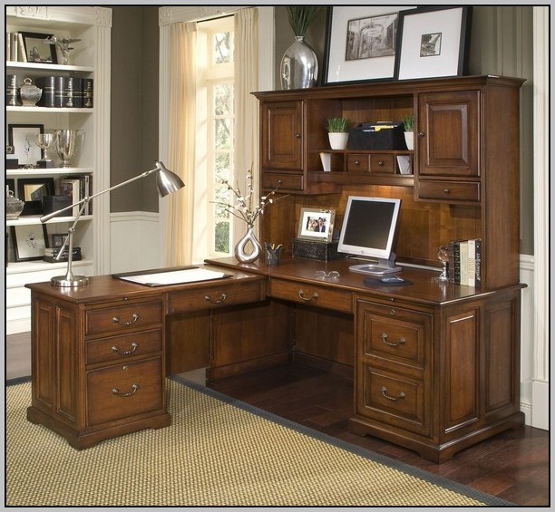 Bush Cabot L Shaped Desk Dimensions