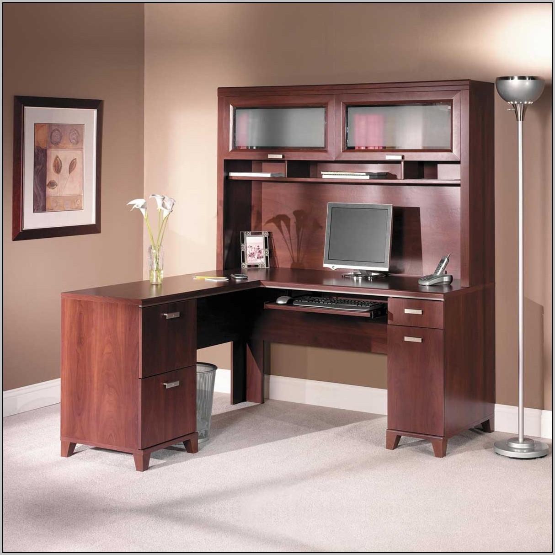 Cherry Corner Computer Desk