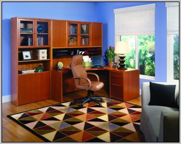 Cherry Wood Corner Computer Desk