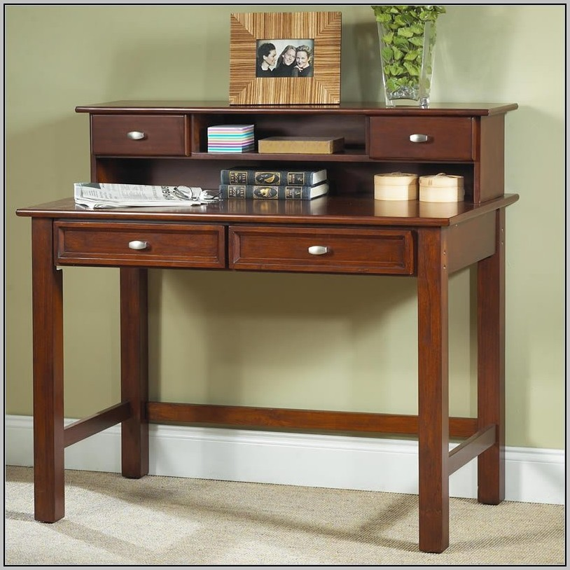 Cherry Writing Desk With Hutch