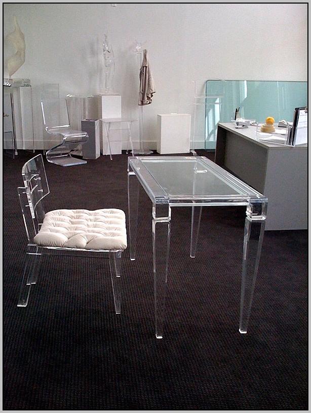 Clear Lucite Desk Chair