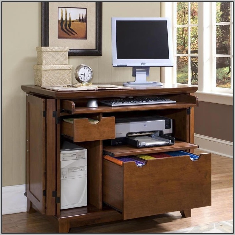 Compact Office Desk Cabinet