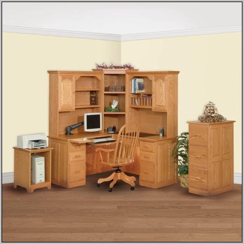 Computer Desk Corner Hutch