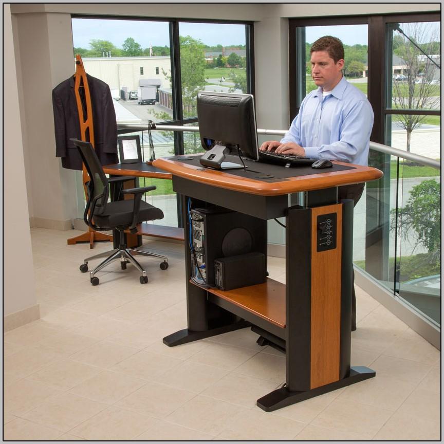 Computer Desk Standing Up