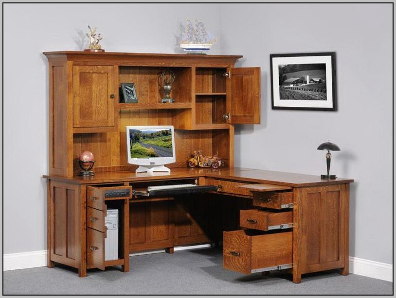 Corner Office Desks With Hutch