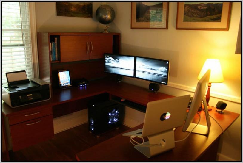 Dual Computer Desk Design