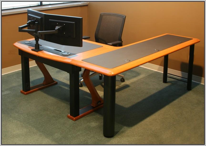 Dual Computer Monitor Desk Mounts