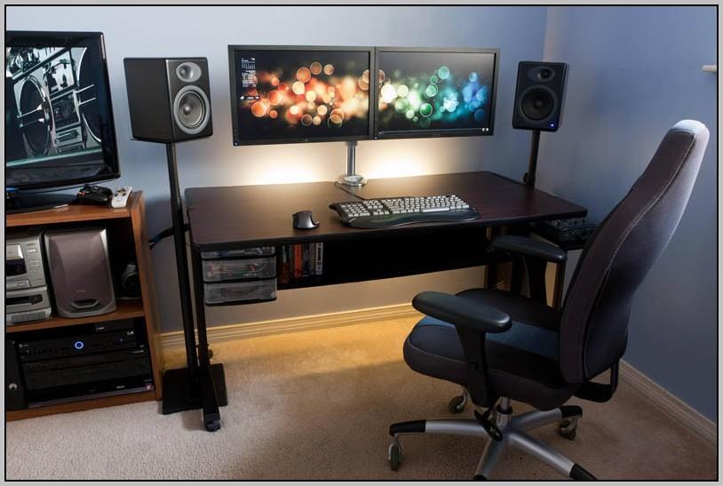 Dual Monitor Computer Desk Plans