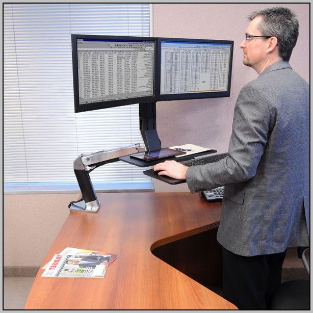Dual Monitor Desktop Computer