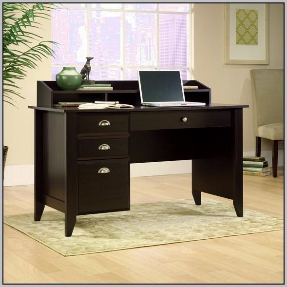 Espresso Computer Desk With Hutch
