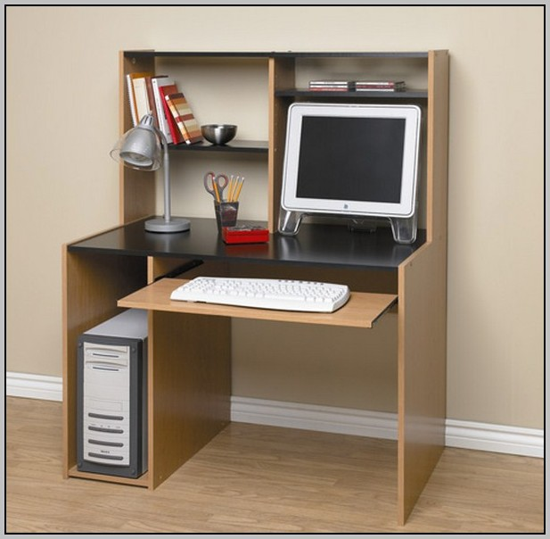 Estate Black Computer Desk With Hutch