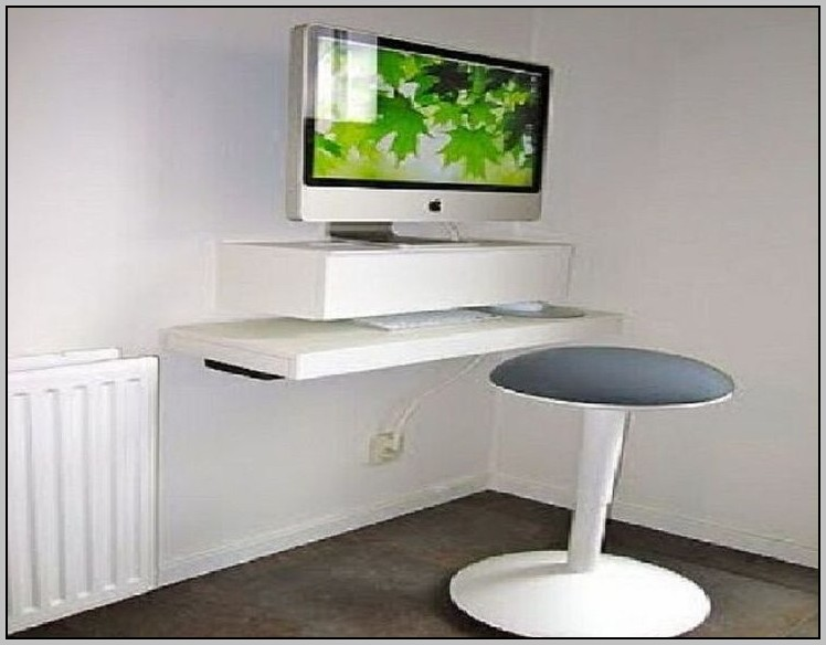 Floating Corner Shelf Desk
