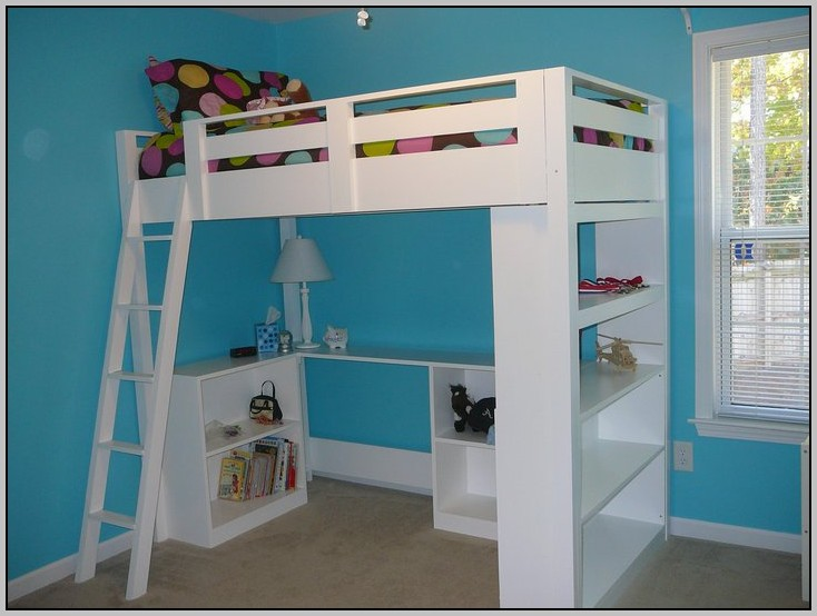 Full Bunk Bed With Desk Plans