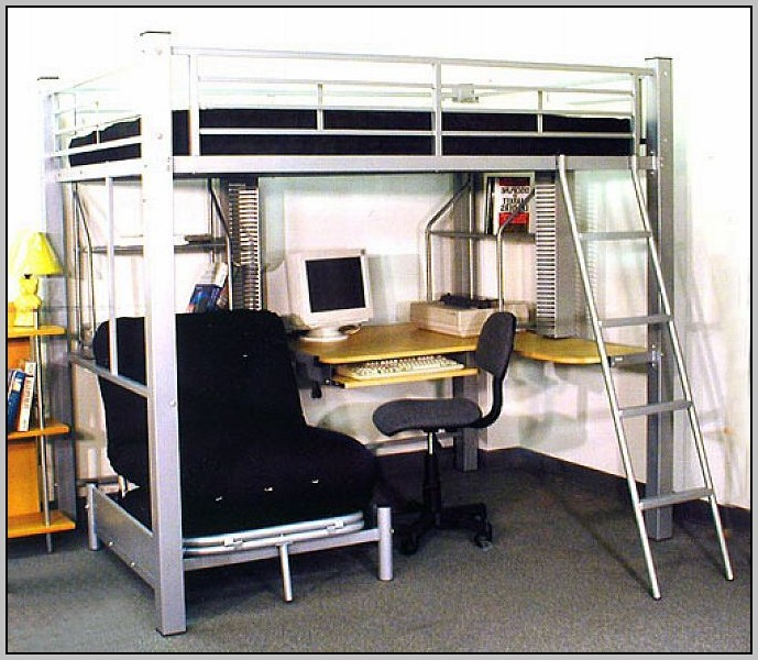 Full Loft Bunk Bed With Desk
