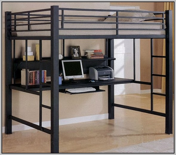 Full Metal Bunk Bed With Desk