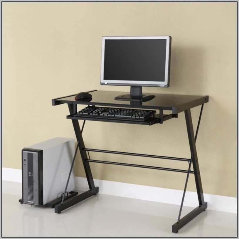 Glass Top Desk Office Max