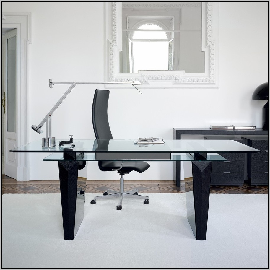 Glass Top Office Desk Furniture