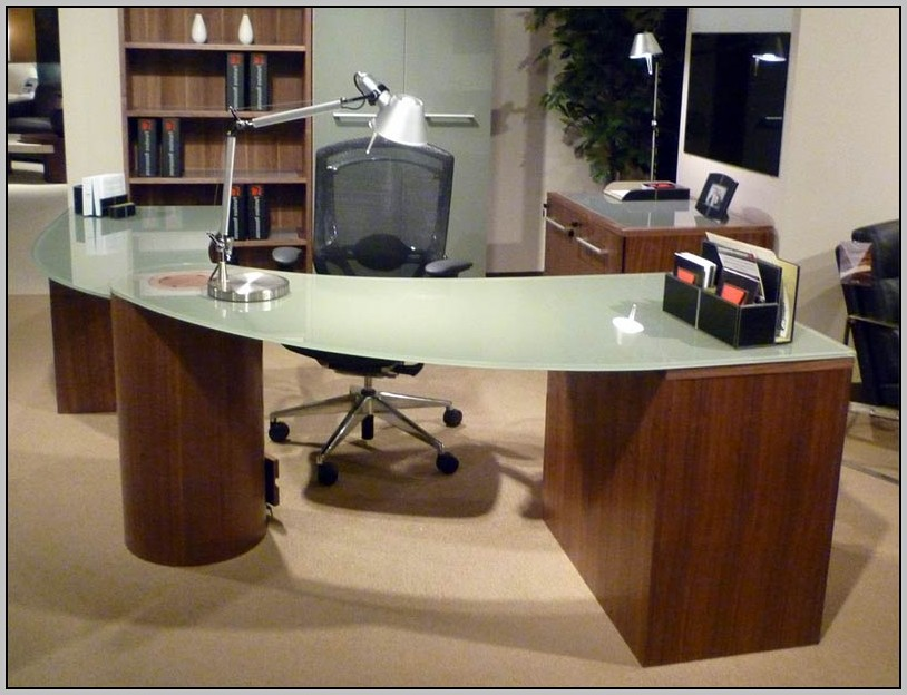 Glass Top Office Desk Perth