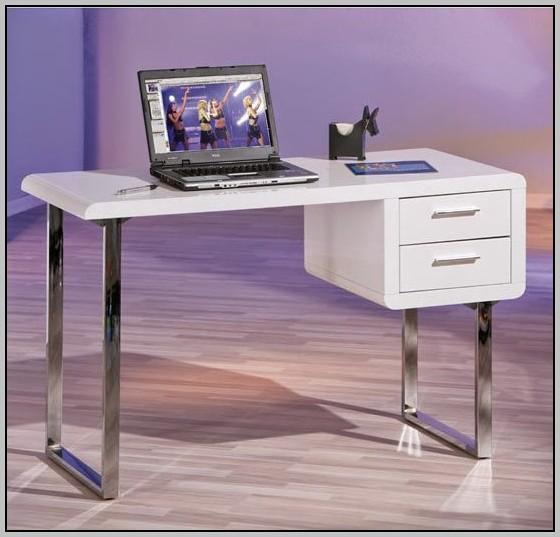 Gloss White Corner Computer Desk