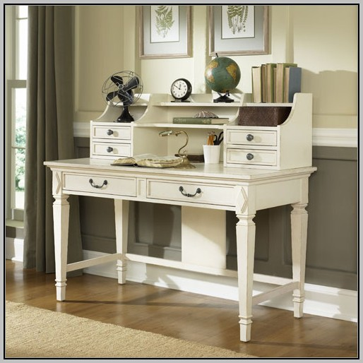 Hand Painted Secretary Desk With Hutch