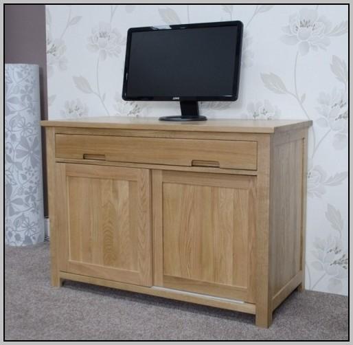 Hideaway Computer Desk Oak