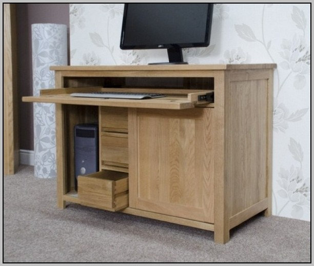 Hideaway Computer Desk Workstation