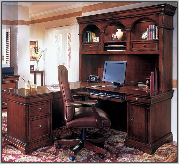 Home Office Small Computer Desk With Hutch 2302