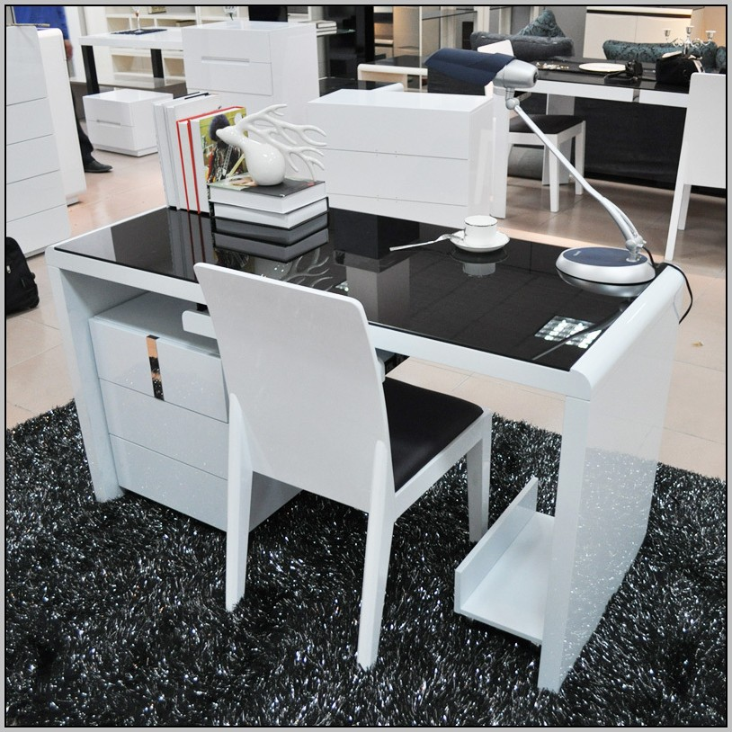 Ikea Black Desk With Glass Top
