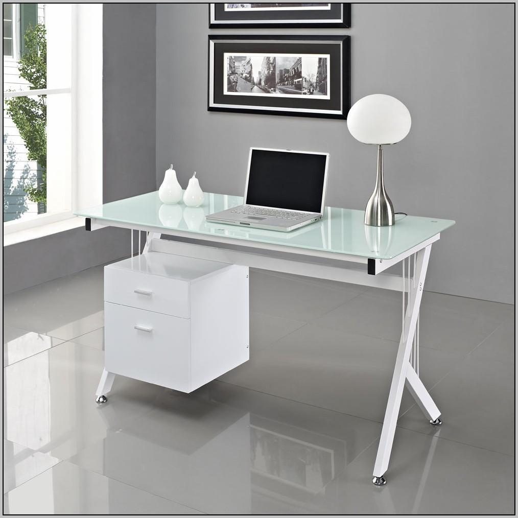 Ikea White Glass Top Desk