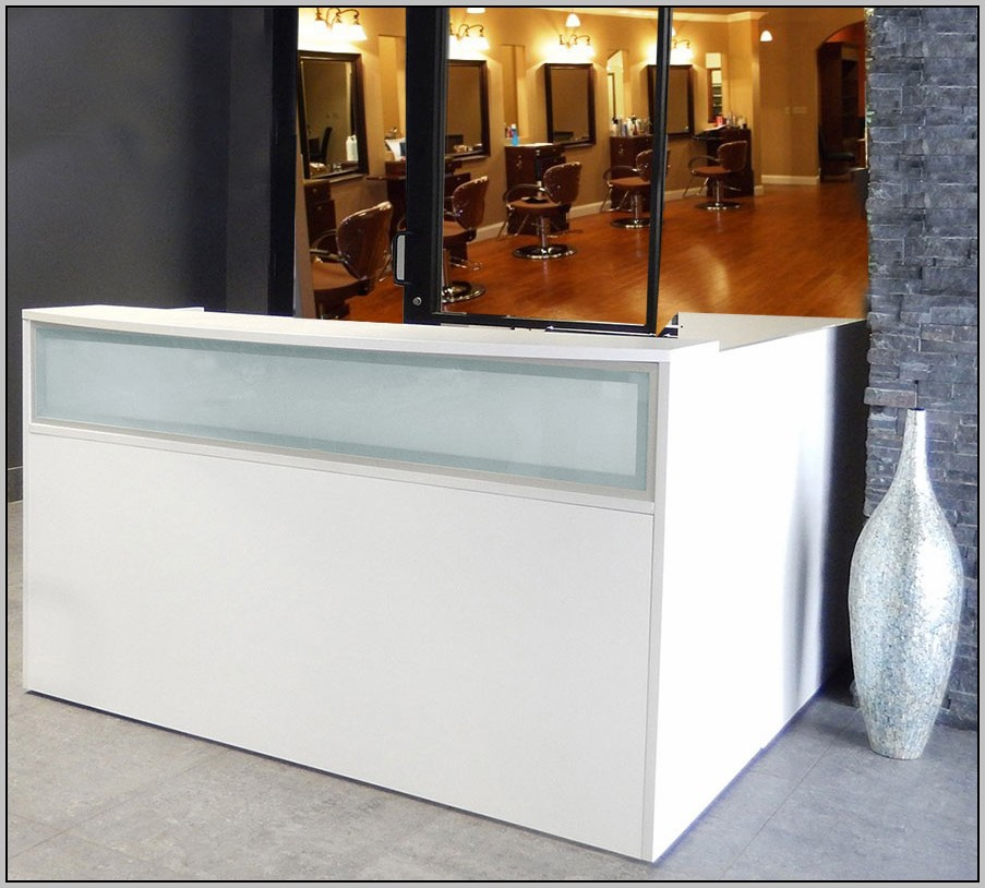 L Shaped Salon Reception Desk