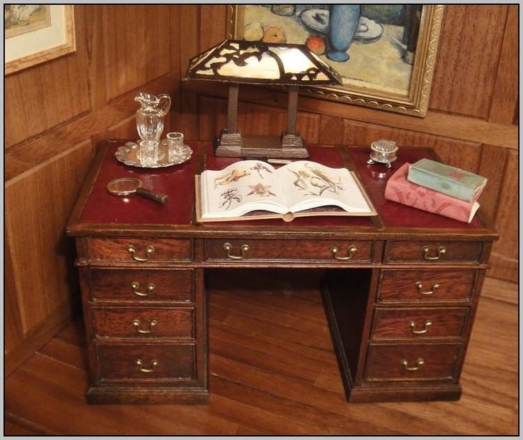 Leather Top Desk Antique