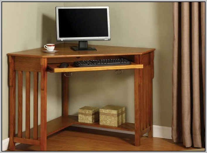 Mission Style Corner Computer Desk
