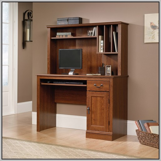 Narrow Computer Desk With Shelves