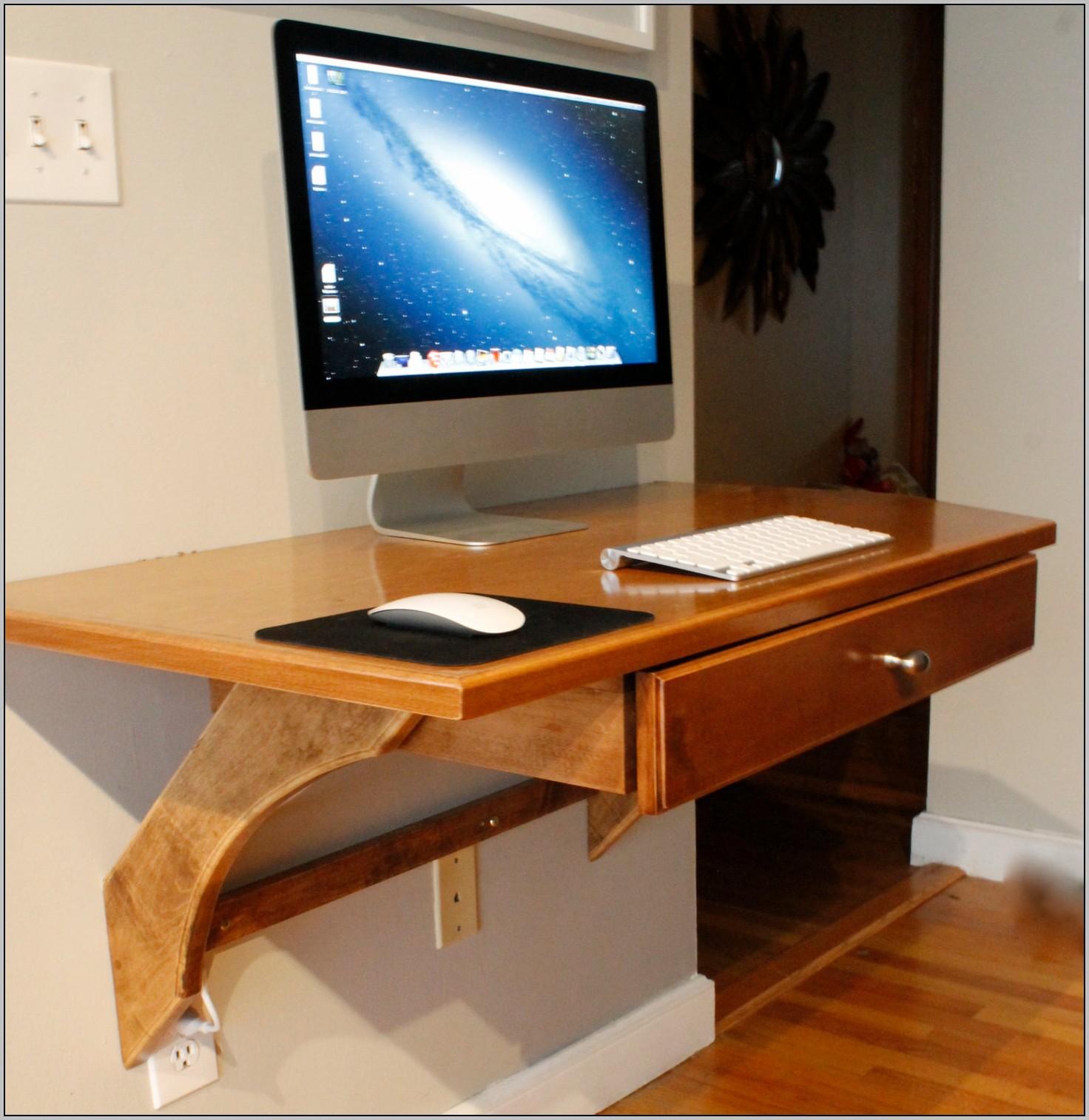 Narrow Computer Desk Wood