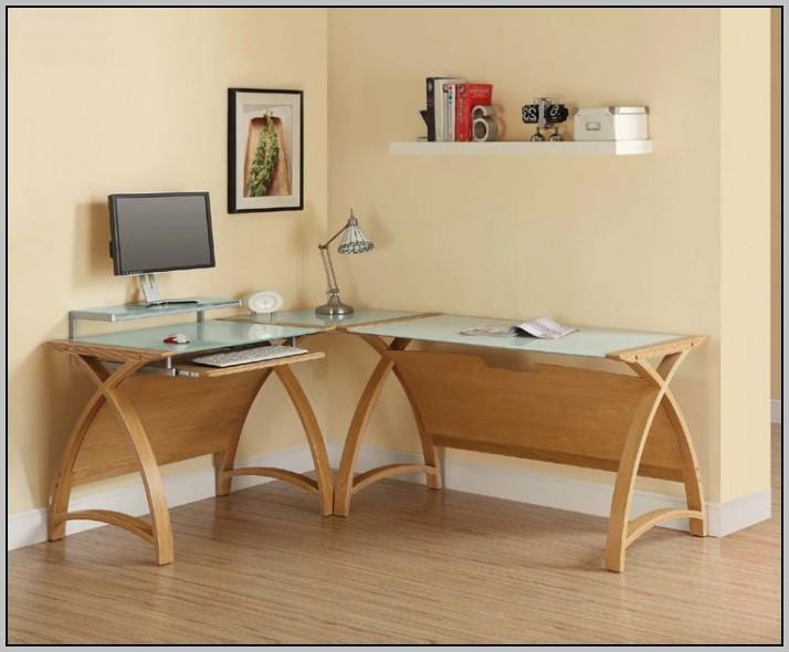 Oak Corner Desk Units