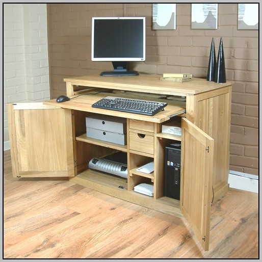 Oak Desk With Filing Cabinet