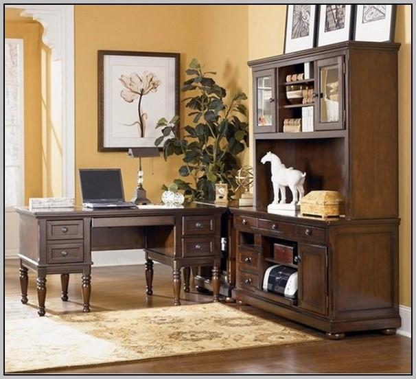 Office Furniture L Shaped Desk Hutch