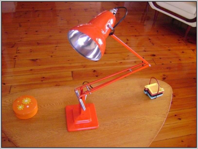 Orange Anglepoise Desk Lamp