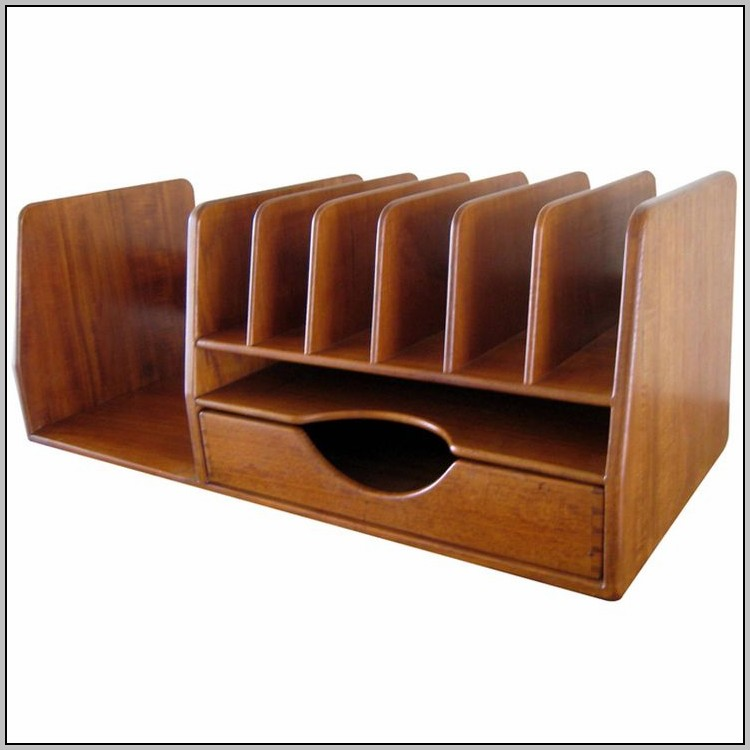 Real Wood Desk Organizer