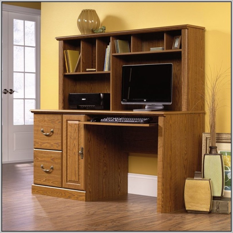 Real Wood Desk With Hutch