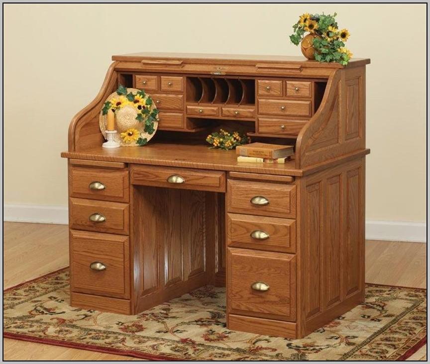 Riverside Furniture Roll Top Desk Oak