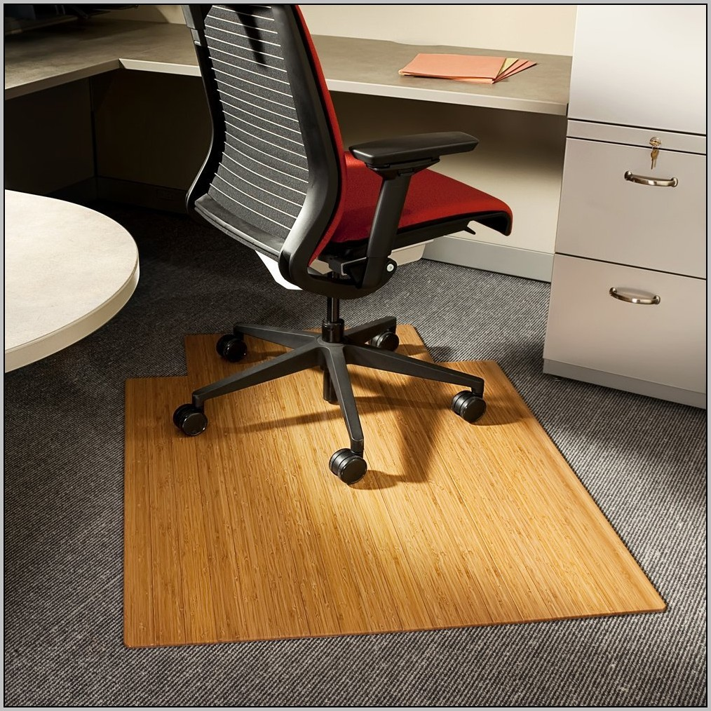 Rolling Desk Chair On Wood Floor