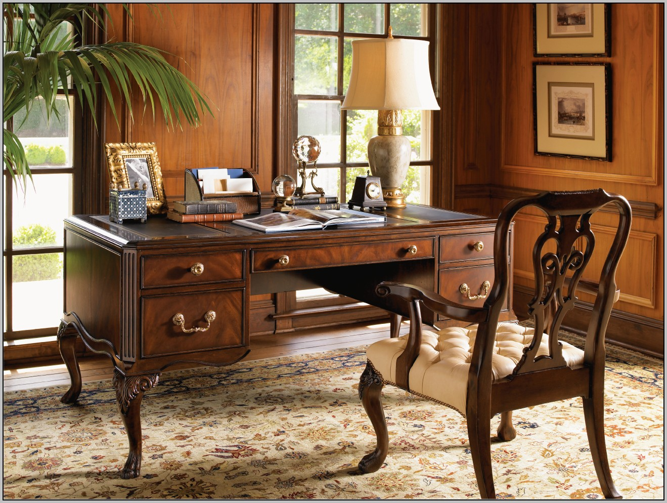 Rustic Wood Office Desk