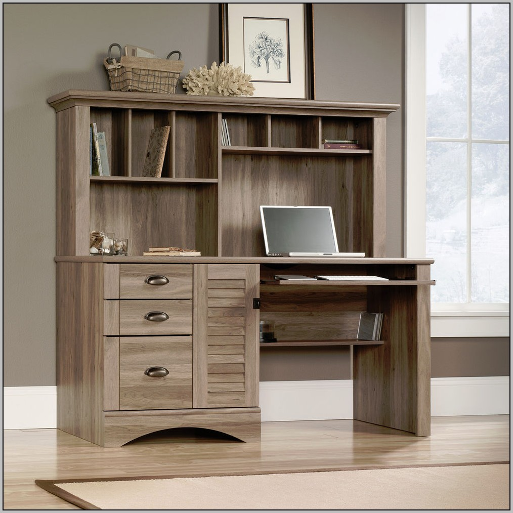 Sauder Computer Desk With Hutch Harbor View