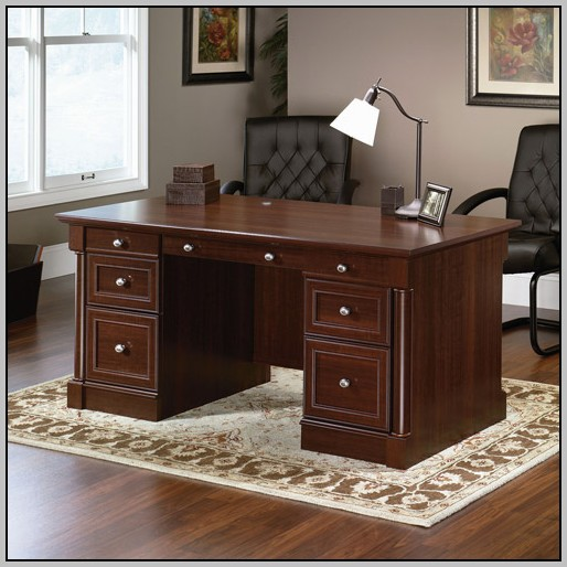 Sauder Computer Desk With Hutch Sugar Creek Collection