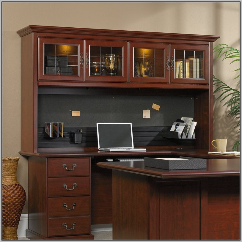 Sauder Desk With Hutch And Return
