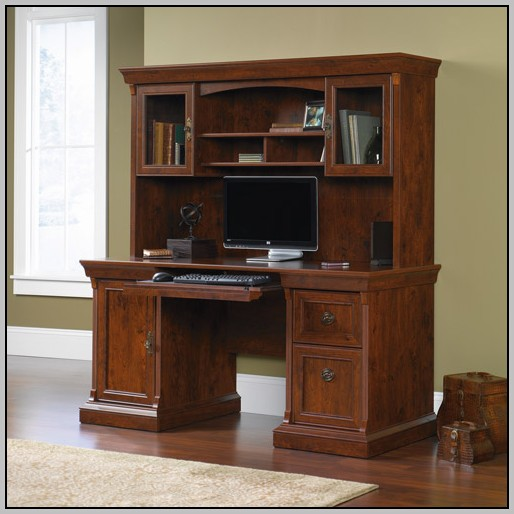 Sauder Desk With Hutch Cherry