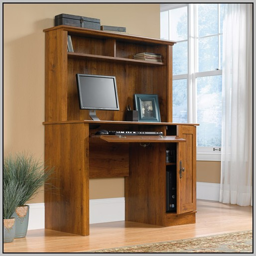 Sauder Hutch For Computer Desk Antiqued Paint