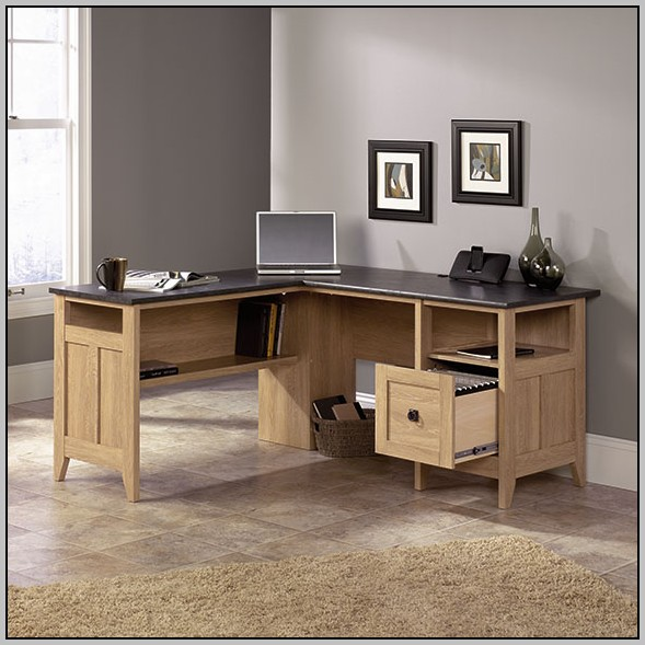 Sauder L Shaped Computer Desk With Hutch